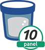 10 Panel Cup