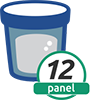 12 Panel Cups