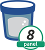 8 Panel Cup